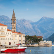 Stock Photo: Landscape of old Perast town, Kotor bay, Montenegro