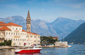 Landscape of old Perast town, Kotor bay, Montenegro — Stock Photo