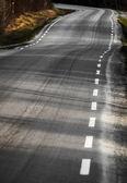 Curved rural asphalt road — Stock Photo