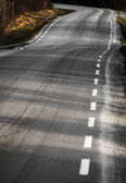 Curved rural asphalt road — Stock Photo