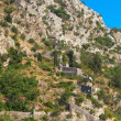 Ancient fortress on the Mountain in Kotor town, Montenegro — Stock Photo