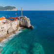Castello, coastal Venetian fortress. Petrovac town, Montenegro — Stock Photo