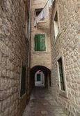 Empty street fragment. Old town Kotor, Montenegro — Photo