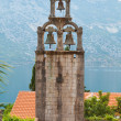 Bell tower of Orthodox Monastery Banja. Risan, Montenegro — Stock Photo