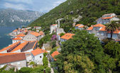 Coastal town landscape. Perast, Kotor Bay, Adriatic sea, Montenegro — Stock Photo