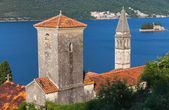 Ancient Churches in Perast town. Kotor Bay, Montenegro — Stock Photo