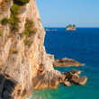 Stock Photo: Coastal rocks ans small island in Adriatic Sea, Montenegro