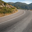Rural mountain asphalt highway in Montenegro — Stock Photo
