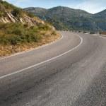 Rural mountain asphalt highway in Montenegro — Stock Photo