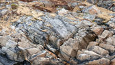 Natural photo background texture of stone coast in Norway — Stock Photo