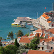 Stock Photo: Venetifortress Castello on old pier in Petrovac, Montenegro
