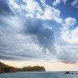 Adriatic Sea landscape with dramatic cloudy sky — Stock Photo