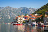 Mar adriático, montenegro, baía de kotor. paisagem de cidade perast — Foto Stock