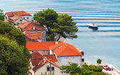 Coastal town Perast landscape, Bay of Kotor, Montenegro — Стоковое фото
