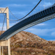 Typical automobile cable-stayed bridge. Rorvik, Norway  — Stock Photo