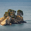 Katic. Small island in Adriatic sea, Montenegro — Stock Photo