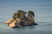 Katic. Small island in Adriatic sea, Montenegro — Stockfoto