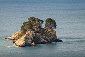 Katic. Small island in Adriatic sea, Montenegro — Stock Photo