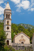 Ancient church in Perast town, Bay of Kotor, Montenegro — Stock Photo