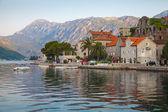Perast town landscape, Bay of Kotor, Montenegro — Stock Photo