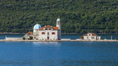 Our Lady of the Rocks. Small island in Kotor Bay — Stock Photo
