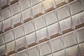 Industrial metal wall panels background photo texture — Stockfoto