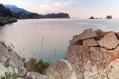 Landscape of Petrovac bay, Adriatic Sea, Montenegro — Stock Photo