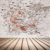 Empty abstract grunge interior with wooden floor — Stock Photo