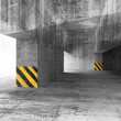 Stock Photo: Abstract grunge concrete parking interior. 3d illustration
