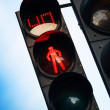 Red stop signal with timer on street pedestrian traffic light — Stock Photo #38826607
