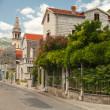 Main street of old coastal town Perast in Montenegro — Stock Photo #38948753
