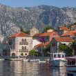 Perast town embankment, Bay of Kotor, Montenegro — Stock Photo #39154755