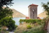 Bell tower of ancient Orthodox Church. Perast. Montenegro — Stock Photo