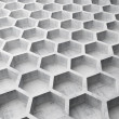 Gray concrete honeycomb structure background pattern. 3d illustration — Stock Photo #39354229