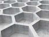 Fundo de estrutura de favo de mel concreto cinza. ilustração 3d — Fotografia Stock