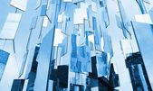 Streszczenie niebieskim tle szkło lusterka wyżej na niebie — Zdjęcie stockowe