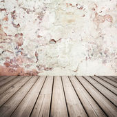 Empty grunge interior background with wooden floor — Foto Stock