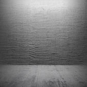 Empty dark concrete interior with decorative stucco on the wall — ストック写真