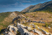 Montenegro. Mountain landscape with dry grass growing on the rocks — Stock Photo