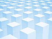 Abstract 3d background with array of identical blue boxes — Stock Photo