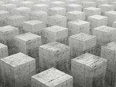 Abstract construction background with array of gray concrete ele — Stock Photo