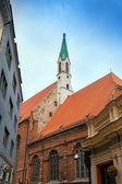 Pionowe zdjęcie historyczne centrum w Rydze, Łotwa — Zdjęcie stockowe