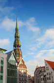 Saint Peter's Church in Riga City's historical center, Latvia — Foto Stock