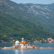Bay of Kotor. Church on island Our Lady of the Rocks — Stock Photo