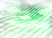 Abstract digital background with light green boxes and waves — Stockfoto