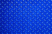 Blue steel sheet with diamond pattern relief — Stock Photo