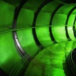 Abstract green underground industrial sewerage tunnel interior  — Stock Photo #41303441