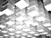 Abstract digital background with array of white boxes — Stock Photo