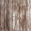 Stock Photo: Background texture of old brown wooden lining boards wall