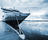 Big passenger cruise ship moored in Rorvik, Norway — Stock Photo